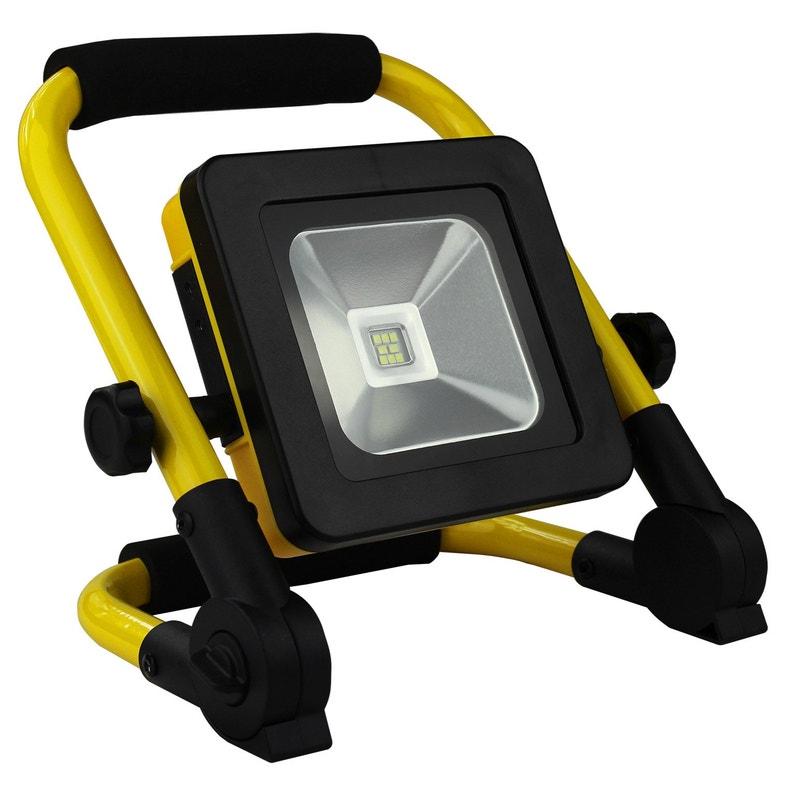 Projecteur à Batterie 500 Lum Portée Entre 10 Et 30m 10w Jaune Et Noir Arlux