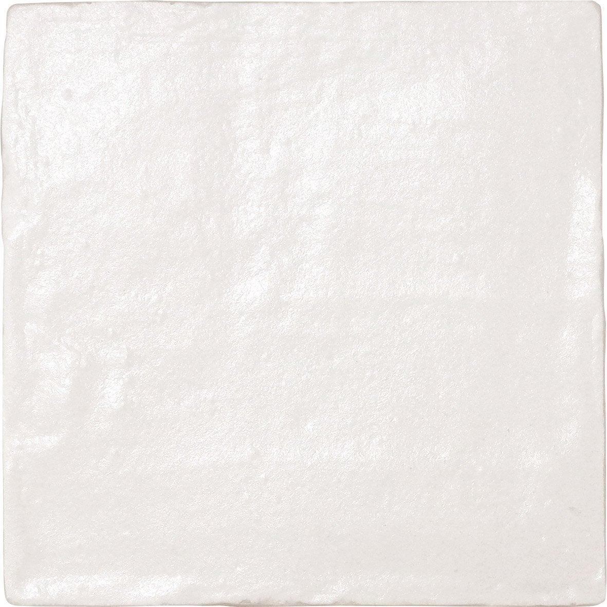 Carrelage mur forte pierre blanc nacrée l.10 x L.10 cm, Ibiza