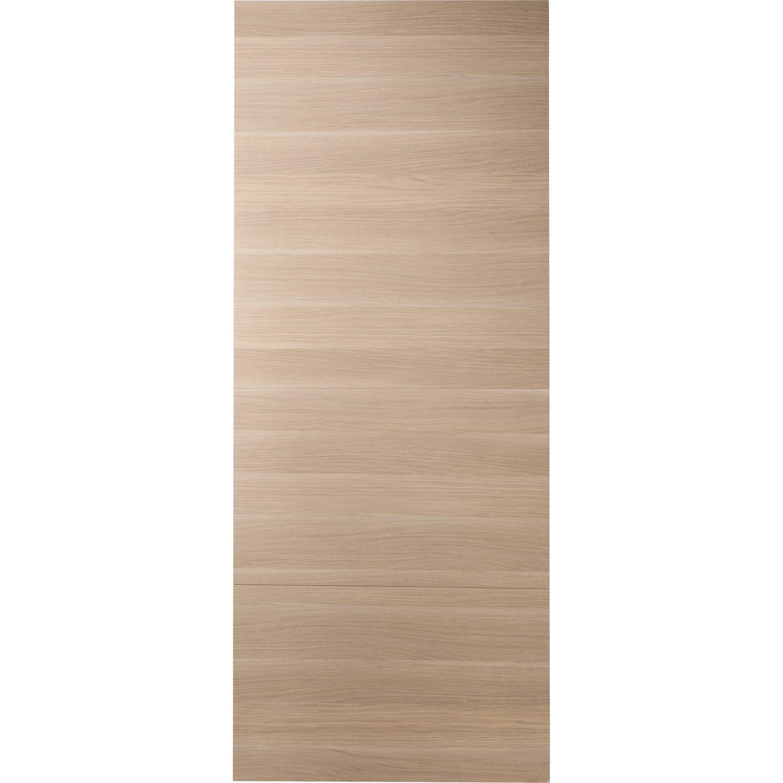 Porte coulissante bois Madrid 2, H.204 x l.73 cm