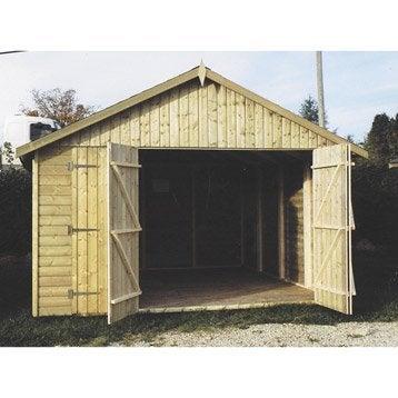 Garage bois Tourmalet 1 voiture, 12.49 m²