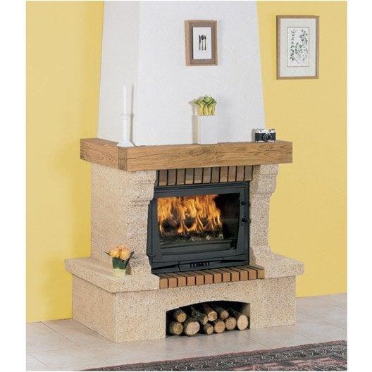 habillage de chemin e en pierre cabri s poutre bois. Black Bedroom Furniture Sets. Home Design Ideas