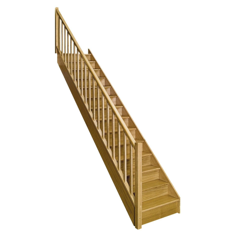 escalier droit en bois leroy merlin