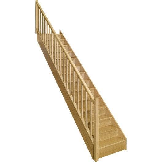 escalier droit authentic structure bois marche bois. Black Bedroom Furniture Sets. Home Design Ideas