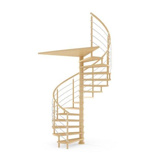 Escalier colima on rond structure bois marche bois leroy merlin - Largeur escalier colimacon ...
