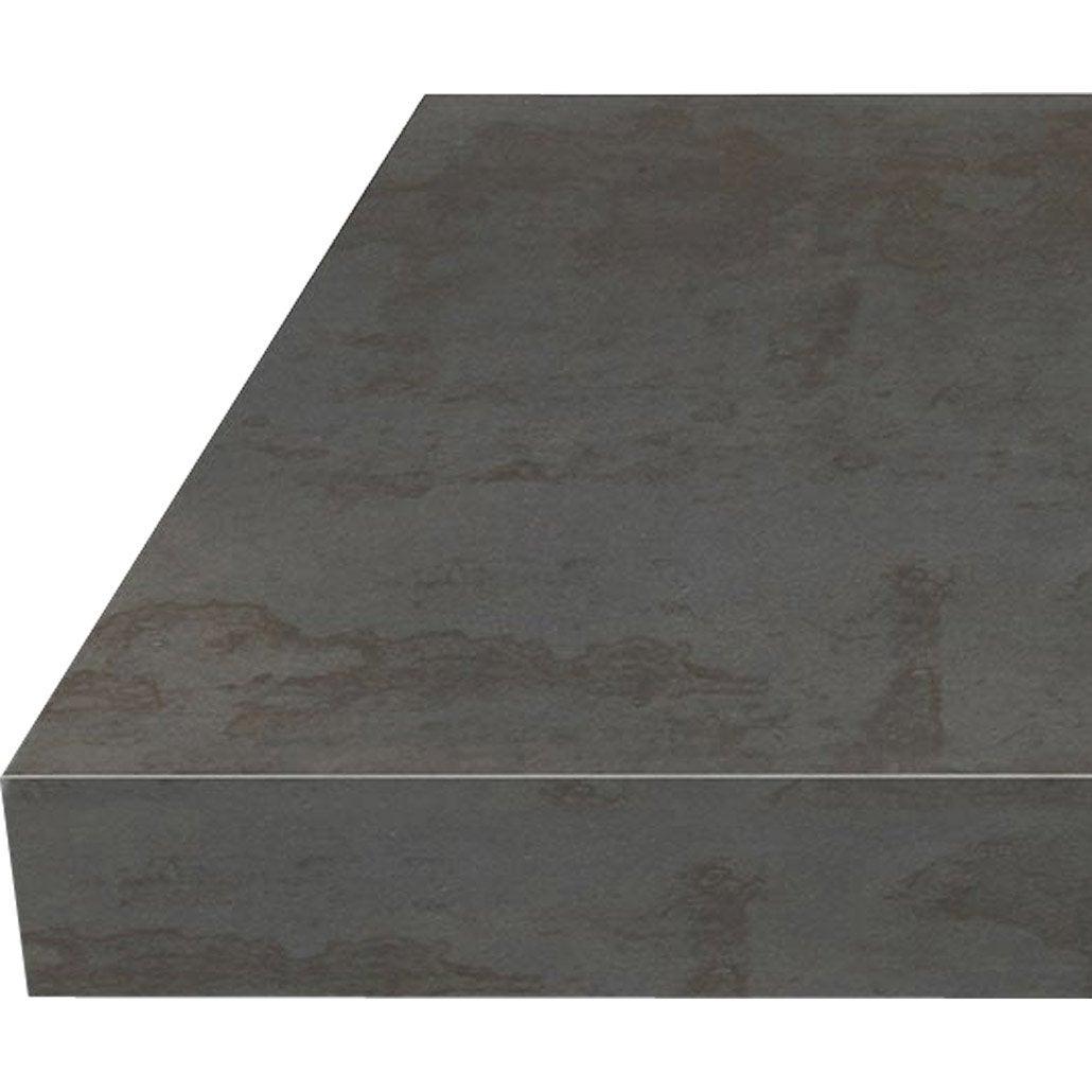 Micro Rayure Plan De Travail Stratifié plan de travail stratifié effet acier trempé mat l.315 x p.65 cm, ep.38 mm