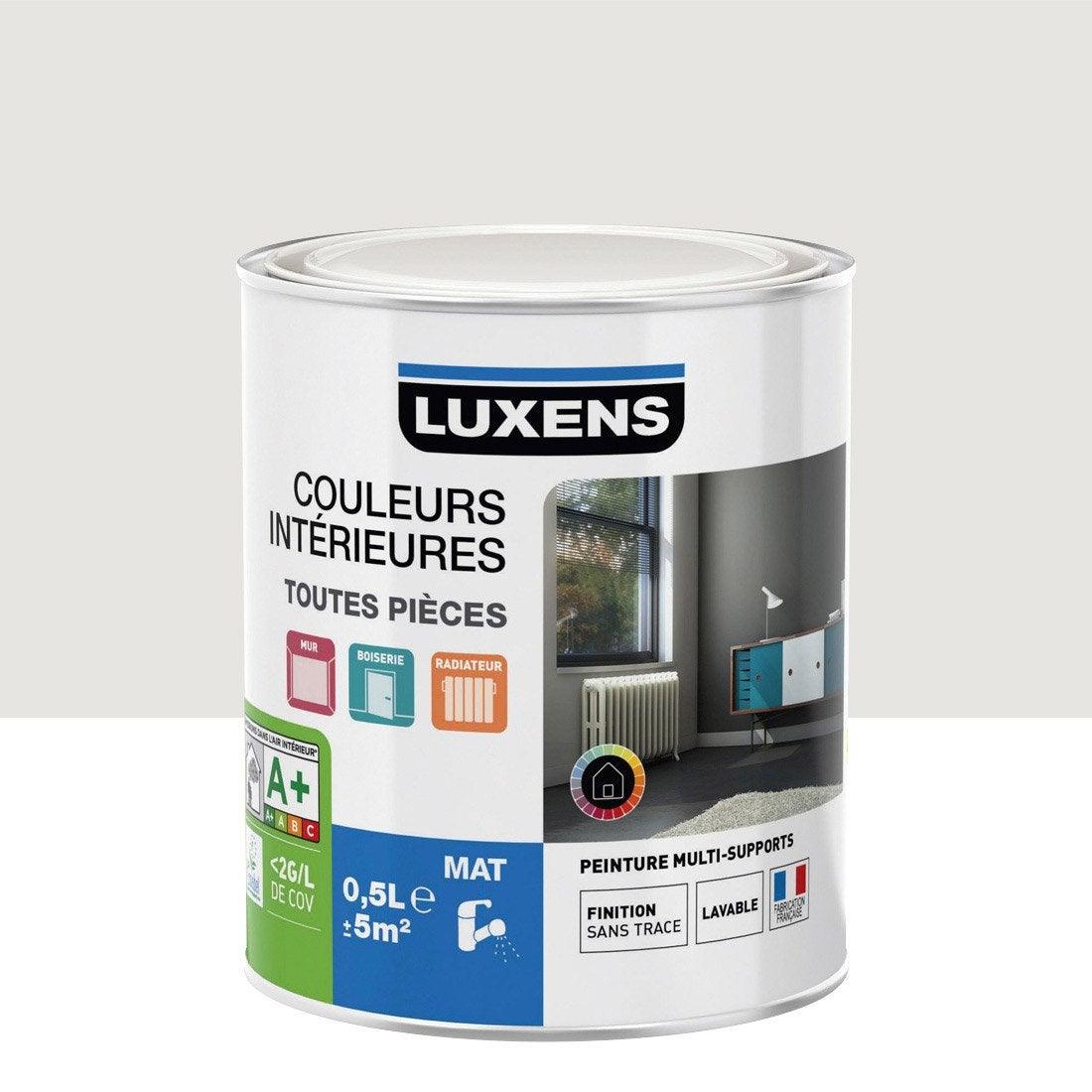 peinture blanc calcaire 5 luxens couleurs int rieures mat 0 5 l leroy merlin. Black Bedroom Furniture Sets. Home Design Ideas