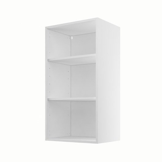 caisson de cuisine haut h50 92 delinia blanc x x cm leroy merlin. Black Bedroom Furniture Sets. Home Design Ideas