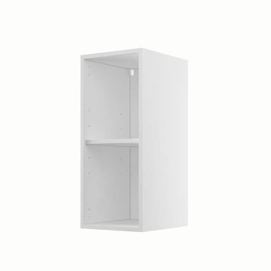 caisson de cuisine haut h30 70 delinia blanc x x cm leroy merlin. Black Bedroom Furniture Sets. Home Design Ideas