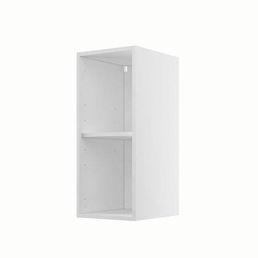 caisson de cuisine haut h30 70 delinia blanc x x cm leroy merlin. Black Bedroom Furniture Sets. Home Design Ideas