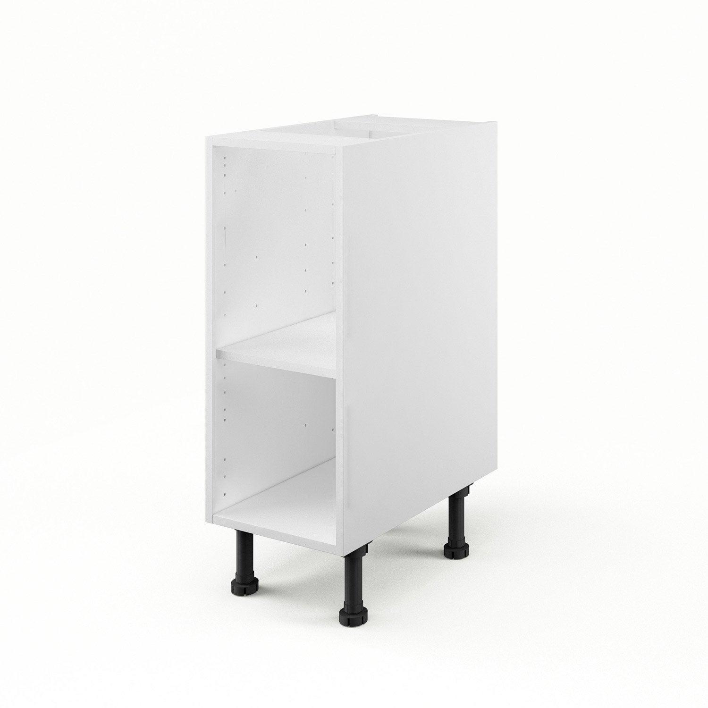 Caisson De Cuisine Bas B30 Delinia Blanc L 30 X H 85 X P 56 Cm  # Ikea Meuble Bas Sur Roulettes