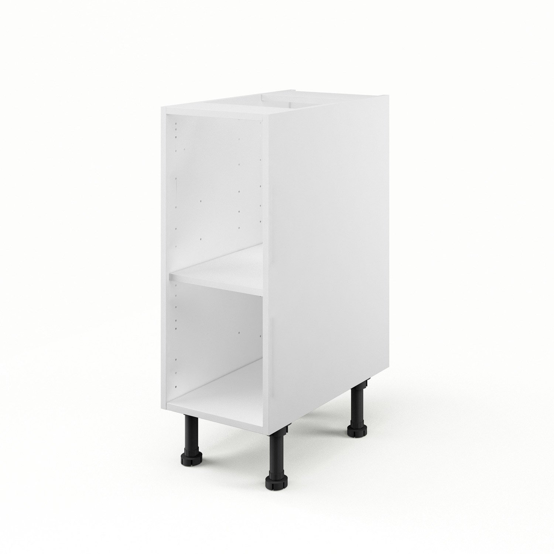 caisson de cuisine bas b30 delinia blanc l30 x h85 x p56 cm leroy merlin