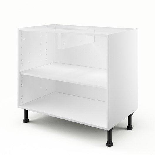 caisson de cuisine bas b90 delinia blanc x x cm leroy merlin. Black Bedroom Furniture Sets. Home Design Ideas