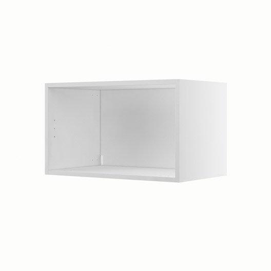 caisson de cuisine haut h60 35 delinia blanc l60 x h35 x p35 cm leroy merlin. Black Bedroom Furniture Sets. Home Design Ideas
