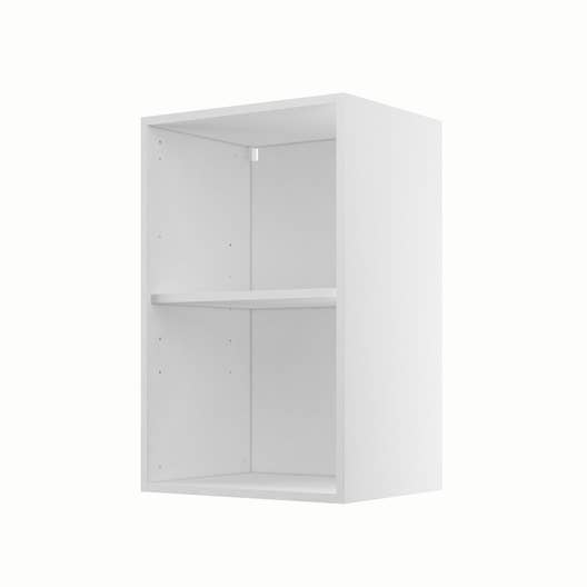 caisson de cuisine haut h45 70 delinia blanc x x cm leroy merlin. Black Bedroom Furniture Sets. Home Design Ideas