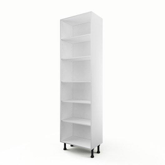 Caisson de cuisine armoire a60 delinia blanc l60 x h215 4 x p35 cm leroy me - Caisson armoire leroy merlin ...