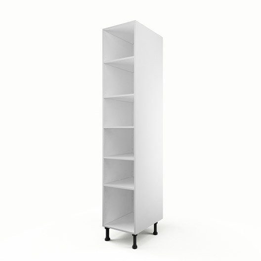 caisson de cuisine colonne c40 200 delinia blanc x x cm leroy merlin. Black Bedroom Furniture Sets. Home Design Ideas