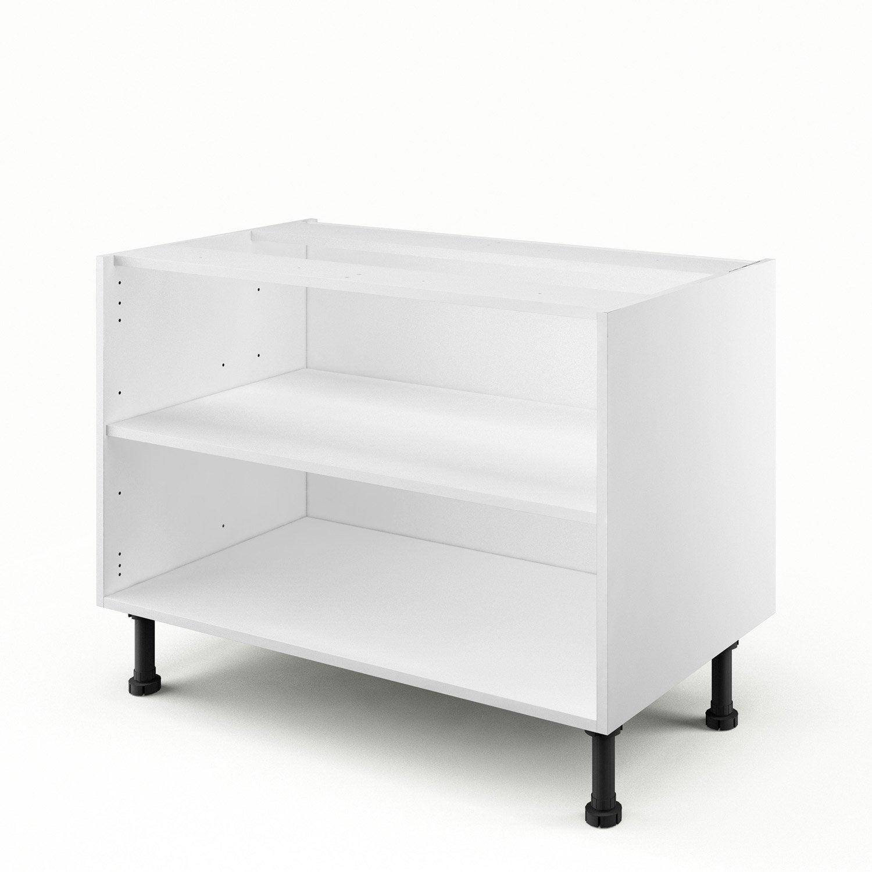 caisson de cuisine sous vier bs90 delinia blanc x x cm leroy merlin. Black Bedroom Furniture Sets. Home Design Ideas
