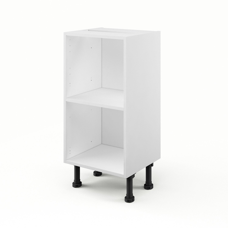 caisson de cuisine bas b4035 delinia blanc l40 x h85 x p35 cm