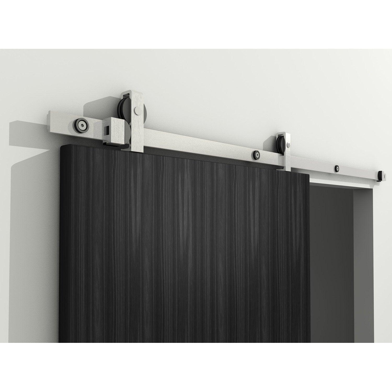 rail coulissant modern pour porte de largeur 63 83 cm leroy merlin. Black Bedroom Furniture Sets. Home Design Ideas
