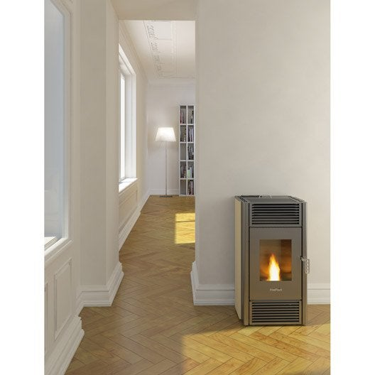 po le granul s freepoint pretty c ramique ivoire 8 5 kw leroy merlin. Black Bedroom Furniture Sets. Home Design Ideas