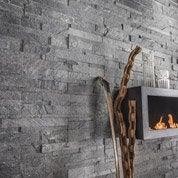 Plaquette de parement pierre naturelle gris Akita