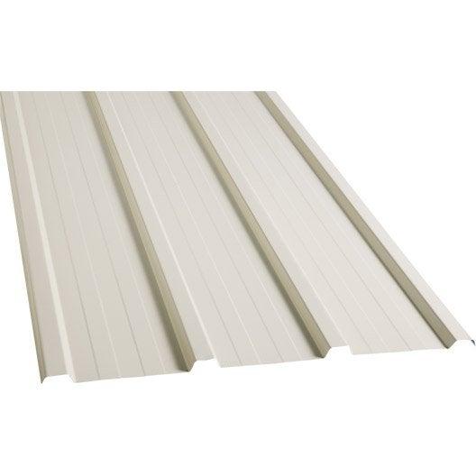 plaque nervur e acier galvanis beige ral 1015 ondometal l. Black Bedroom Furniture Sets. Home Design Ideas