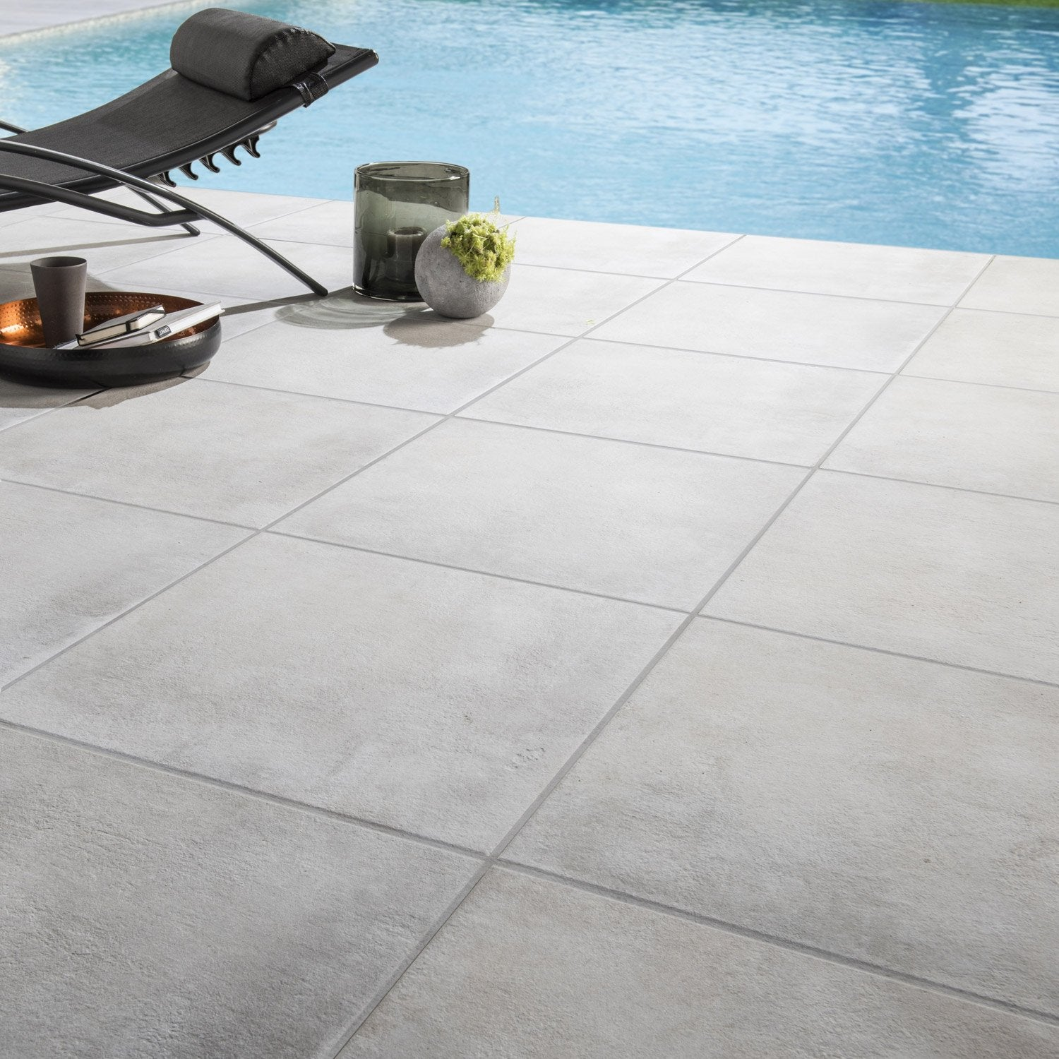 Carrelage sol perle effet pierre dolce vita x for Carrelage grand carreaux gris