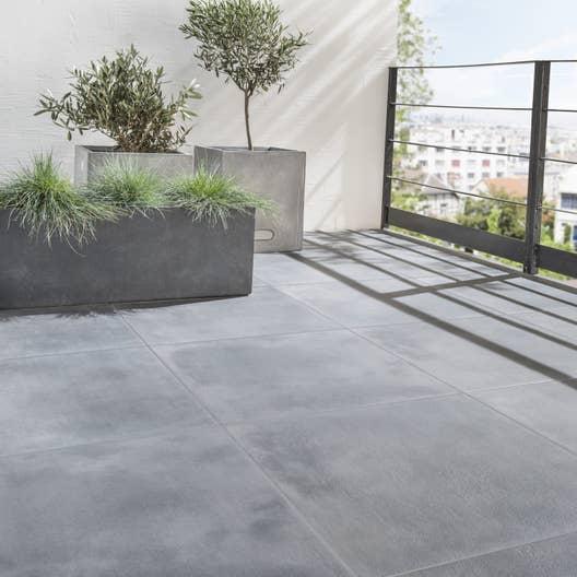 Carrelage sol noir effet pierre dolce vita x cm for Carrelage 60 x 60