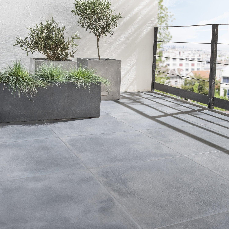 Carrelage Sol Noir Effet Pierre Dolce Vita L.60 X L.60 Cm ...