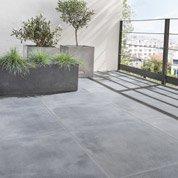 Carrelage noir effet pierre Dolce vita l.60 x L.60 cm
