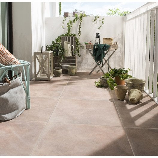 Carrelage ext rieur carrelage pour terrasse leroy merlin for Carrelage sol marron
