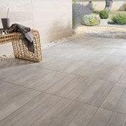 Carrelage gris effet bois Jungle l.45 x L.45 cm