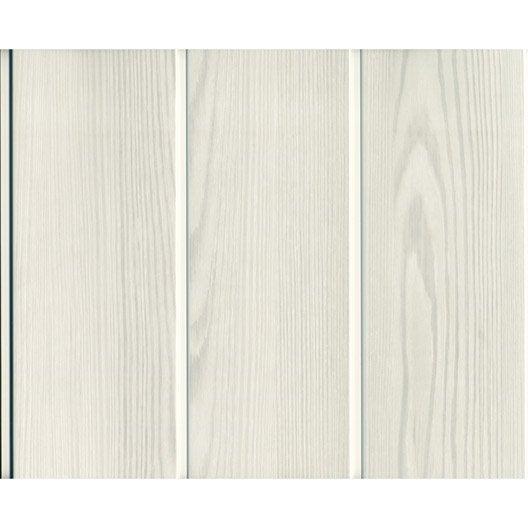 lambris pvc gris c rus mat grosfillex x cm x ep 8 mm leroy merlin. Black Bedroom Furniture Sets. Home Design Ideas