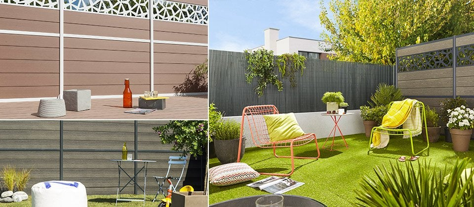 panneau composer bois composite r sine aluminium pvc leroy merlin. Black Bedroom Furniture Sets. Home Design Ideas
