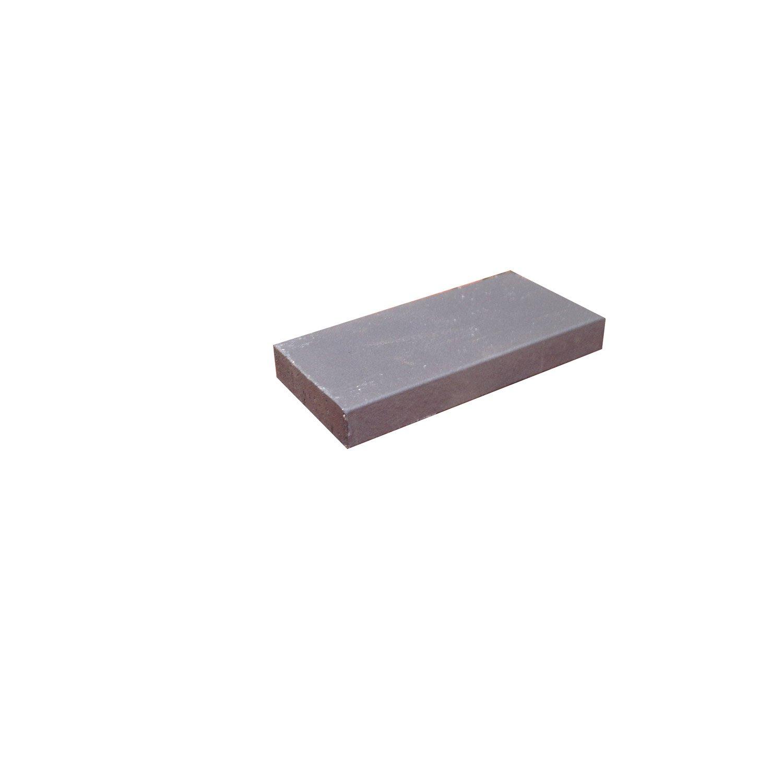 brique r fractaire x 11 x 3 cm gris anthracite. Black Bedroom Furniture Sets. Home Design Ideas