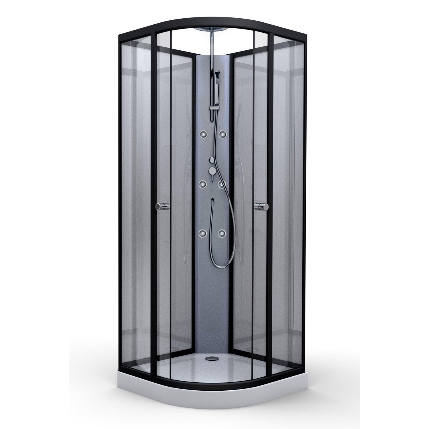cabine de douche 1 4 de cercle x cm carlton leroy merlin. Black Bedroom Furniture Sets. Home Design Ideas
