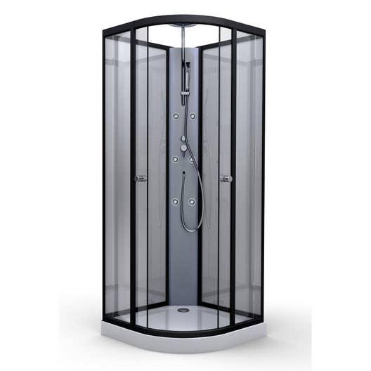 cabine douche hydro 1 4 de cercle x cm verre. Black Bedroom Furniture Sets. Home Design Ideas