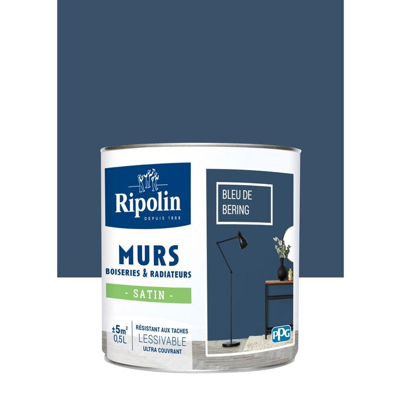 Peinture Bleu De Béring Satin Ripolin Murs Et Boiseries 0 5 L