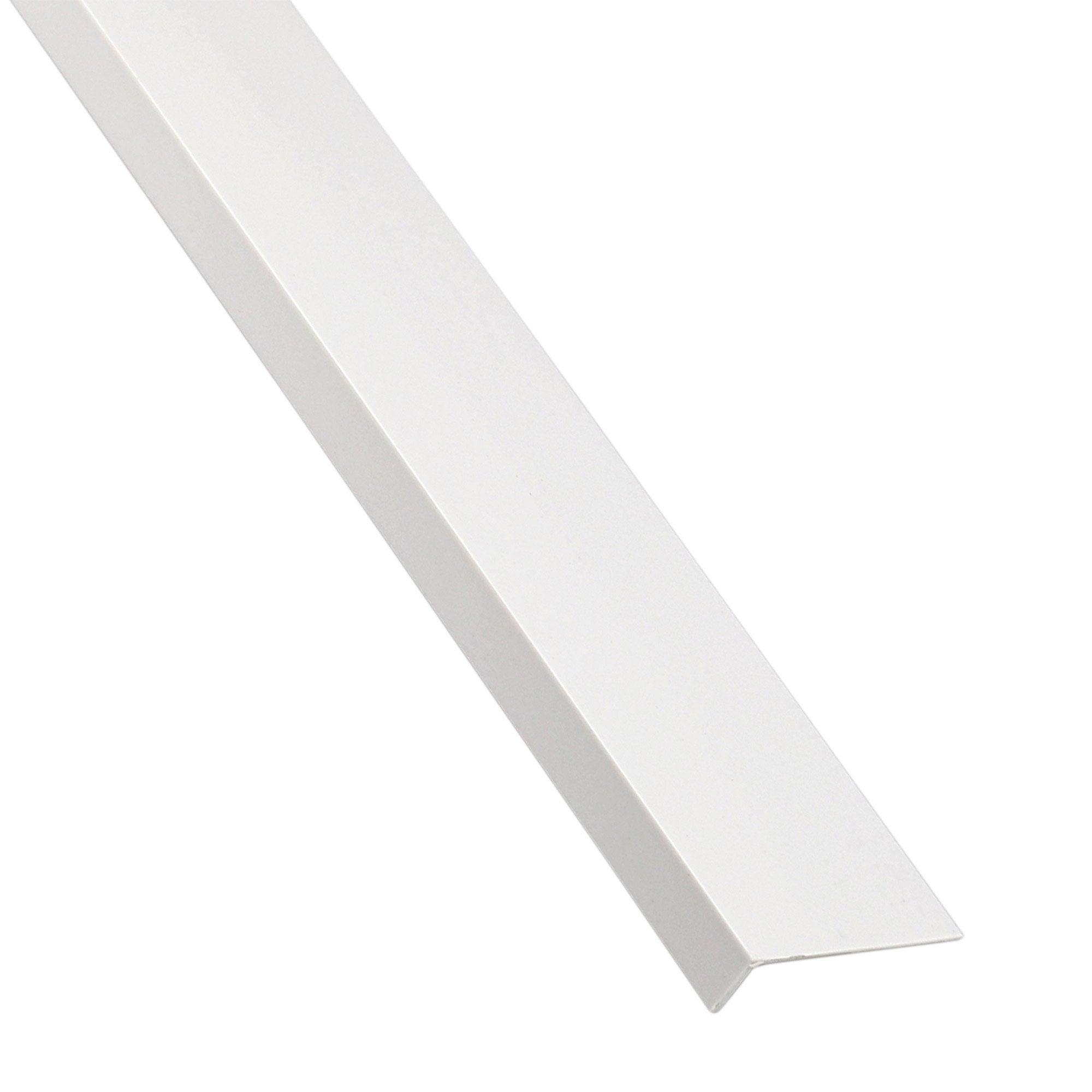 Cornière Inégale Pvc Mat Blanc L26 M X L35 Cm X H2 Cm