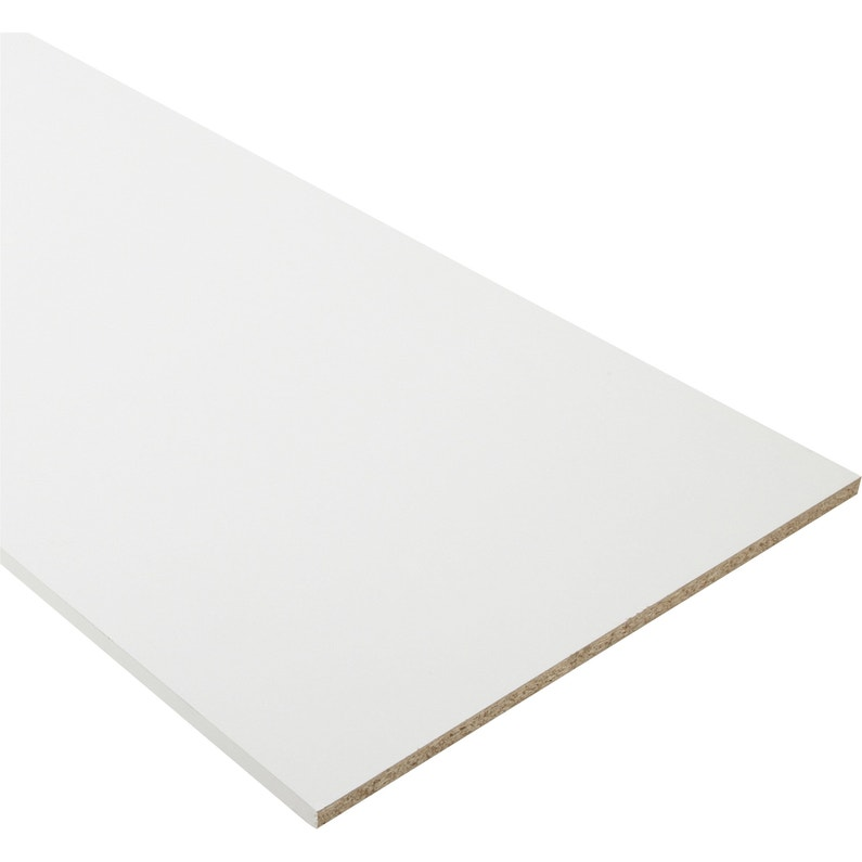 Tablette Agglomeree Blanc L 250 X L 30 Cm X Ep 18 Mm Leroy Merlin