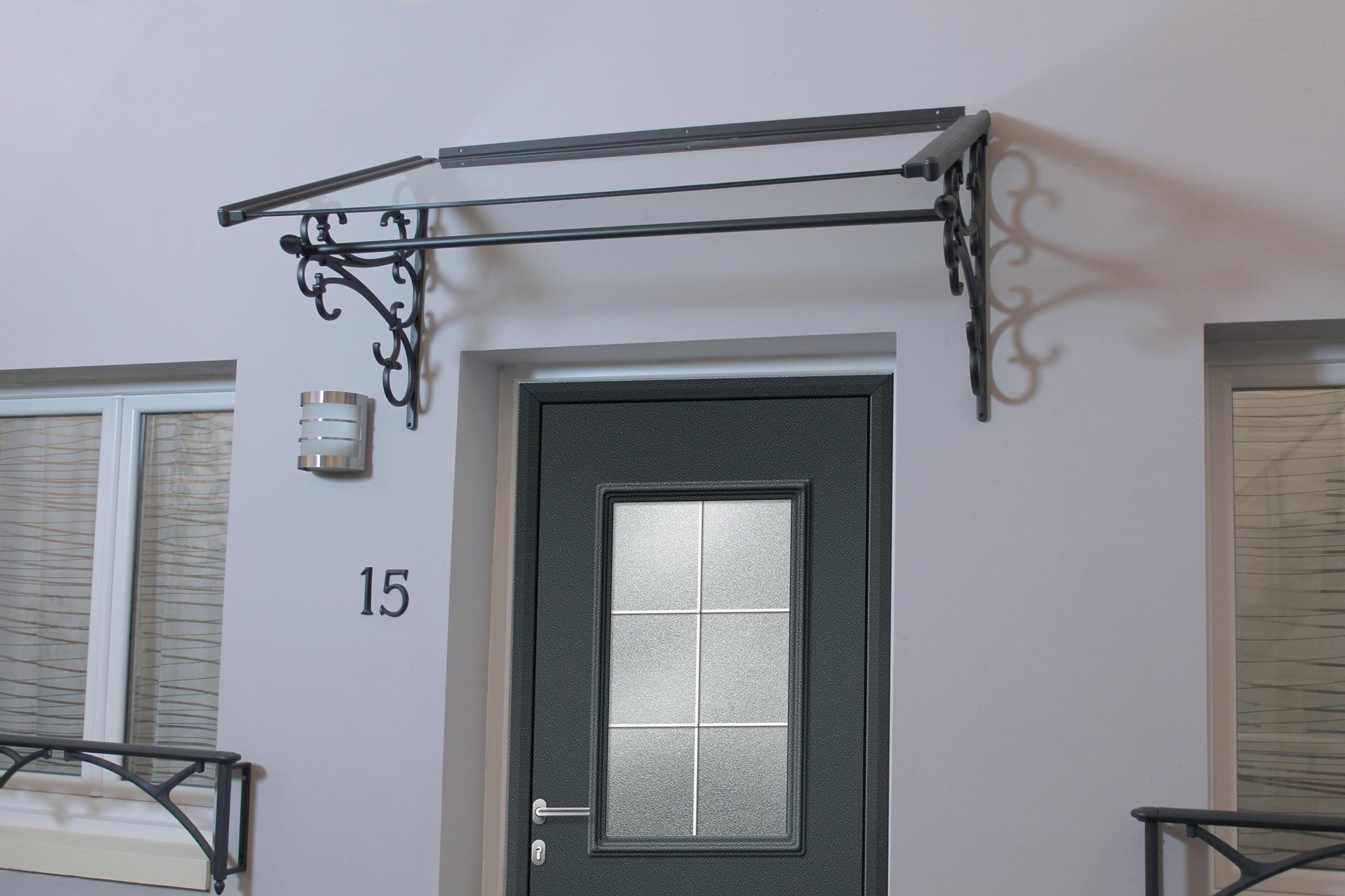 Fenetre Alu Noir Avis auvent de porte d'entrée alu noir dallas, l.120 x h.59.9 x p.70.1 cm,  pré-monté