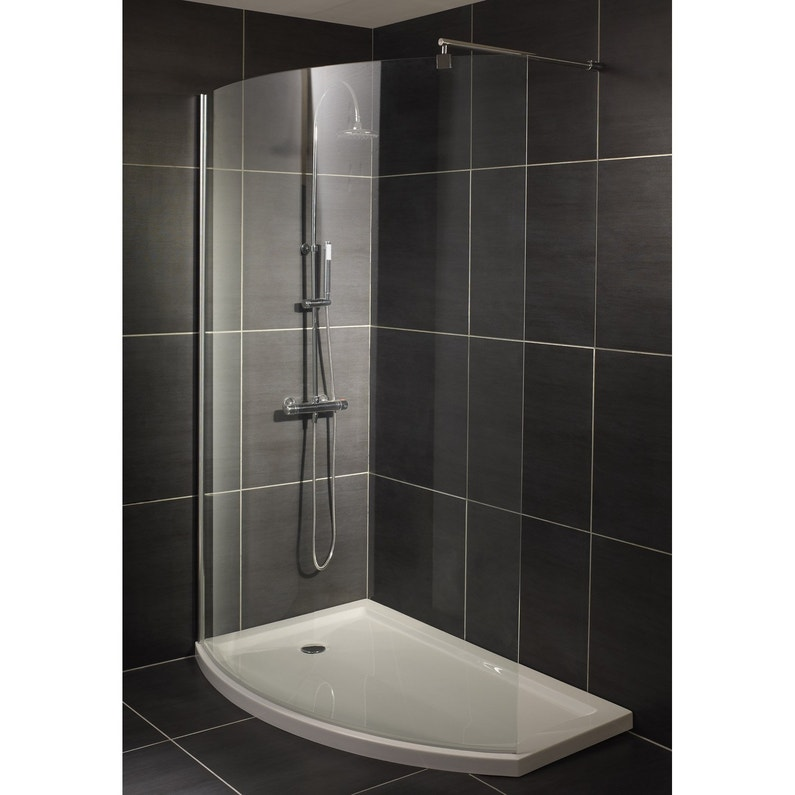paroi de douche l 39 italienne cm verre transparent 8 mm look leroy merlin. Black Bedroom Furniture Sets. Home Design Ideas