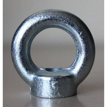 1 anneau-écrou à visser acier zingué, Diam.8, STANDERS