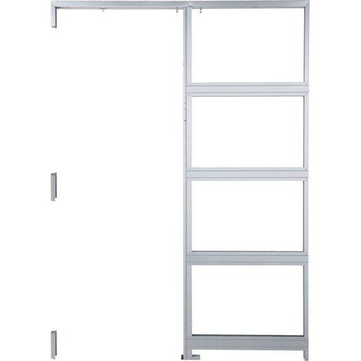 Syst me galandage aluminium artens pour porte de largeur 73 cm leroy merlin - Systeme porte coulissante galandage ...