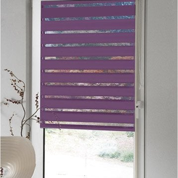 store enrouleur polyester jour nuit inspire violet 62 65 x 170 cm. Black Bedroom Furniture Sets. Home Design Ideas