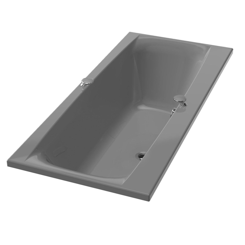 baignoire rectangulaire l.180x l.80 cm gris, ideal standard