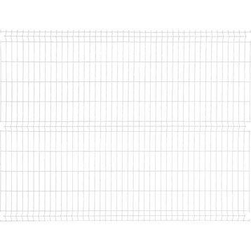 Panneau grillagé NATERIAL blanc H.1.93 x L.2.48 m, maille H.200 x l.55 mm