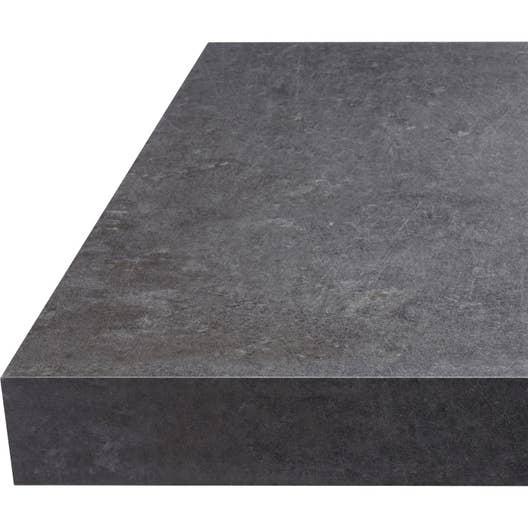 plan de travail stratifi effet b ton gris mat x cm cm mm leroy merlin. Black Bedroom Furniture Sets. Home Design Ideas