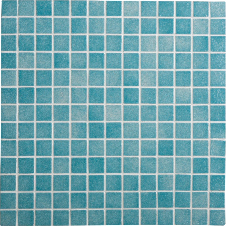 Mosaique Salle De Bain Bleu ~ mosa que sol et mur harmonie bleu 2 5 x 2 5 cm leroy merlin