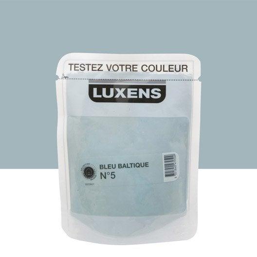 Testeur peinture couleurs int rieures satin luxens bleu for Peinture bleu marine leroy merlin